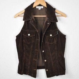 Karen Kane Brown Corduroy Vest Size 8